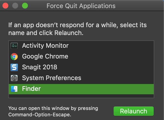 Mac Force Quit