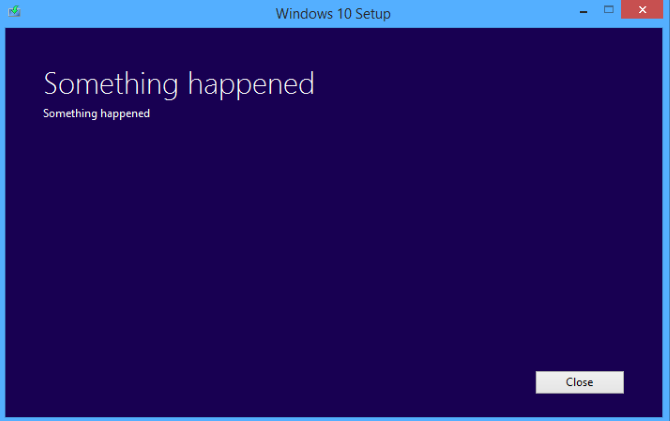 Something Happened Windows 10