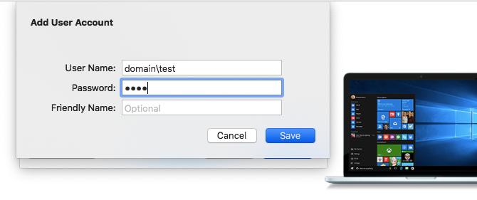 add windows user account mac