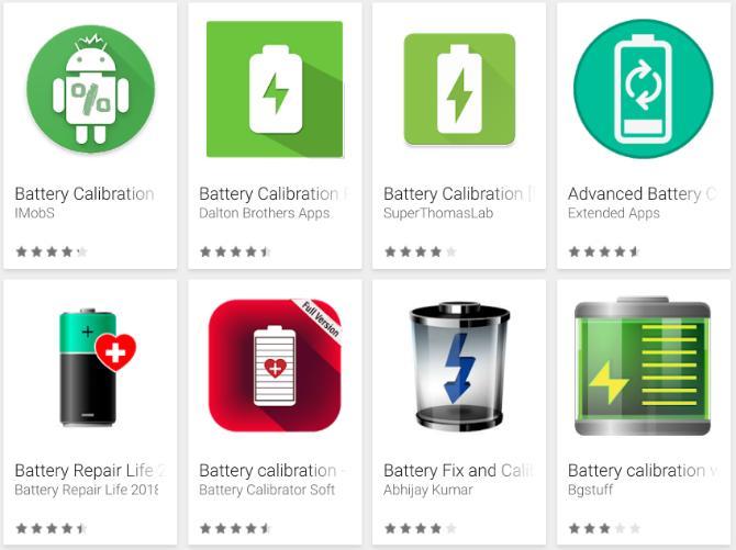 Aplikasi kalibrasi baterai palsu Android
