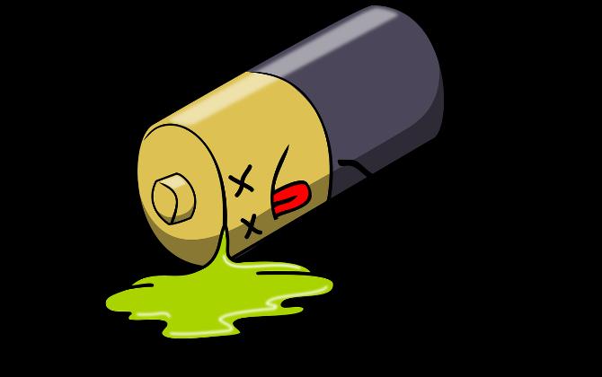 Baterai mati kartun