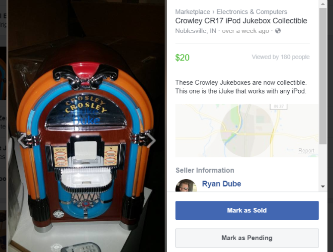 facebook marketplace listing