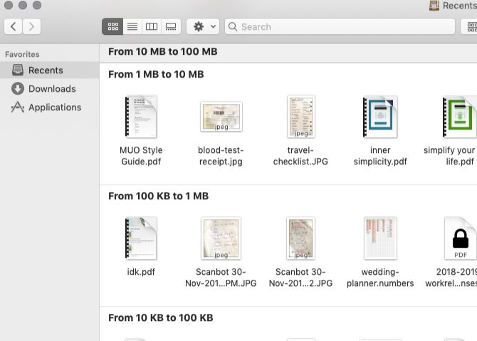 group-by-size-in-recents-view-of-finder-on-mac