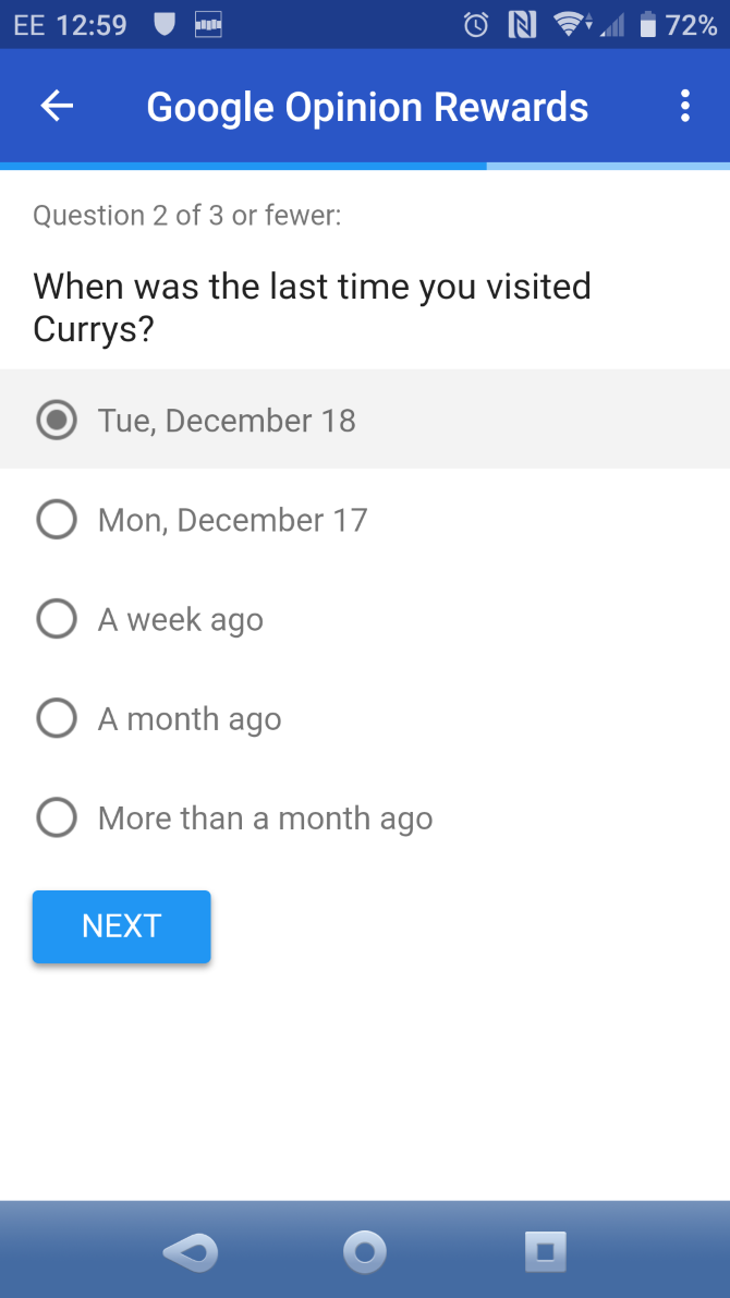 google opinion survey