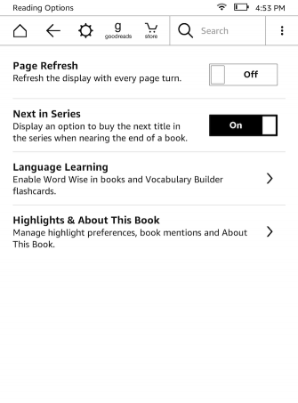 Kindle Page Refresh