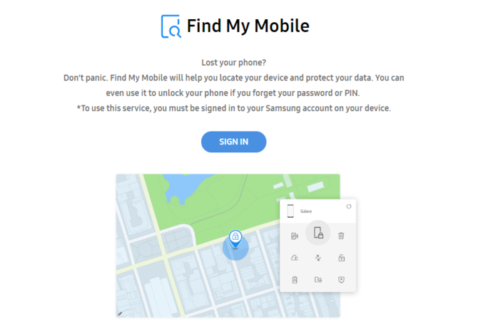 samsung find my device website