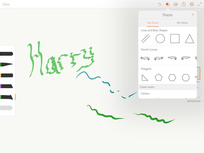 Disegnare di Adobe disegnare forme vettoriali matita mela
