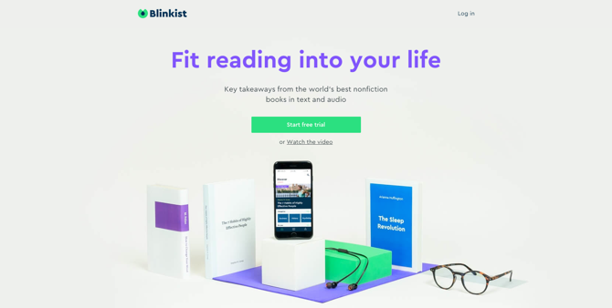Blinkist Screenshot