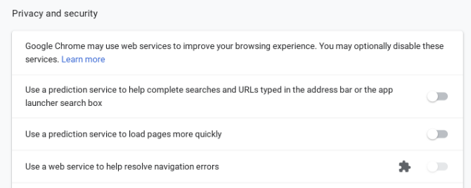 chrome disable secure browsing
