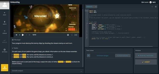 Gamify your coding skills with Codingame
