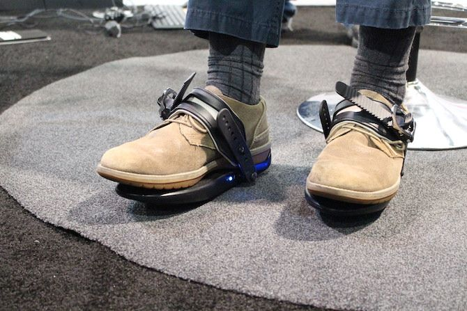 Photograph of the Cybershoes in use