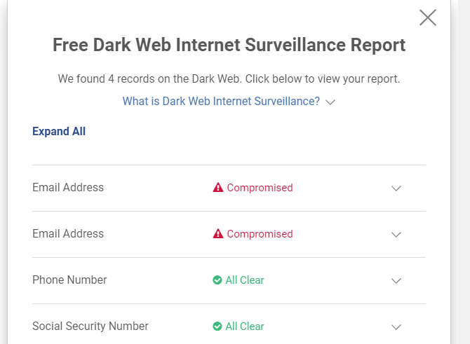 Experian Security Report