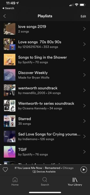 songs about your love leaving