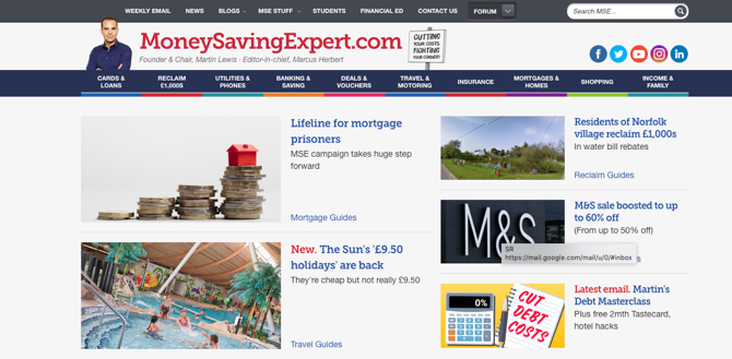 MoneySaveingExpert Screenshot