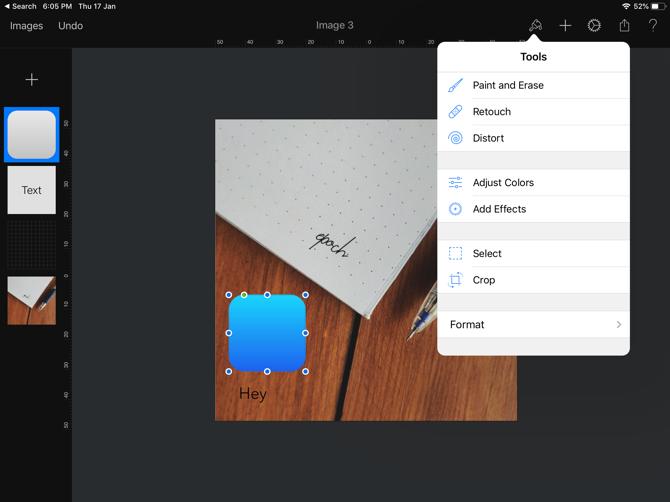 Pixelmator iPad Photo Editing