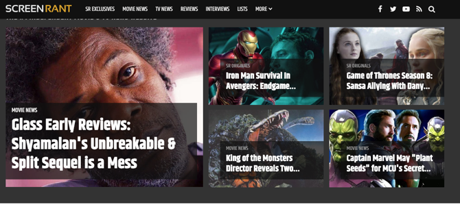 ScreenRant Home Page