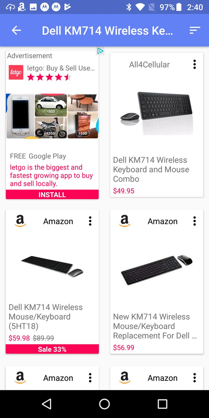 bb7e23a9e5 SoftShopper for Android lets you scan a barcode or search for an item by  typing or speaking. You'll then see results for stores, with the product in  a clear ...