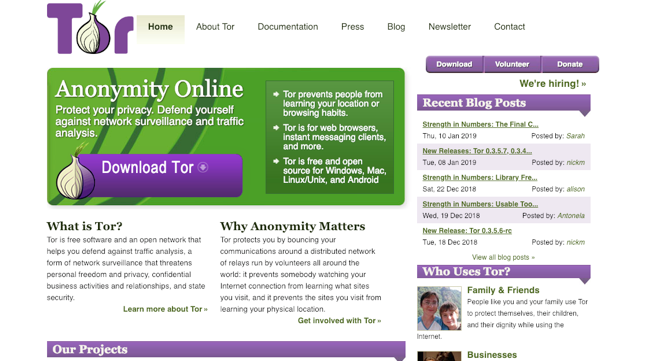 Tor Screenshot