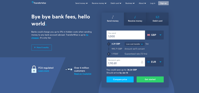 Transferwise screenshot