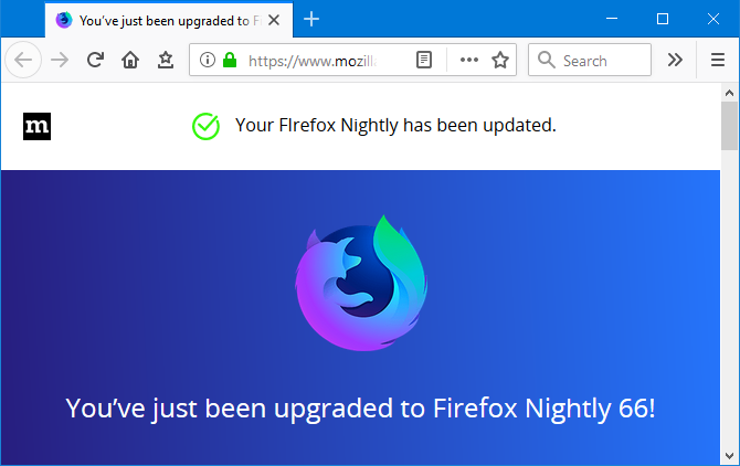 Firefox Nightly screenshot