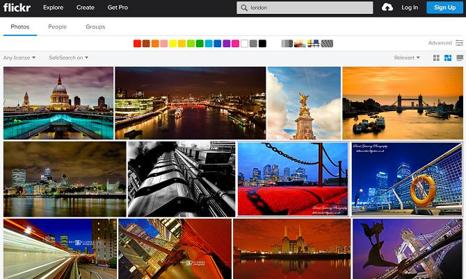 flickr web app