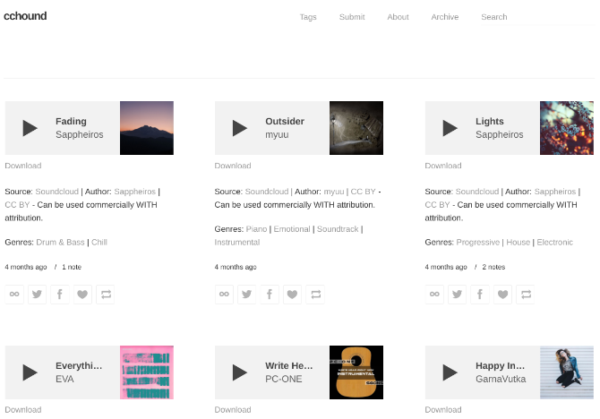 CCHound has hand-picked royalty free music