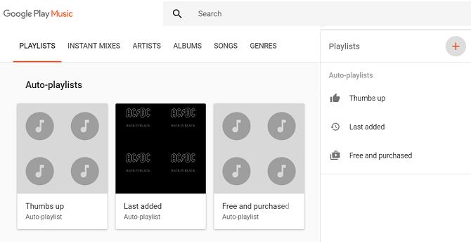 google play music playlist creation menu