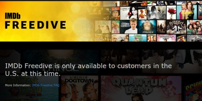 IMDb Launches Freedive, a Free Streaming Service