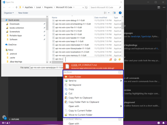 listary integration with open and save dialog box