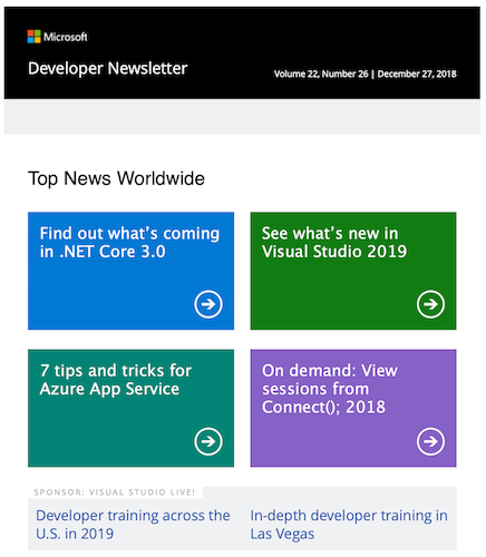 Microsoft Development Newsletter
