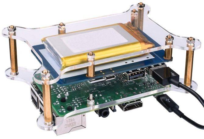 Kuman Lithium Battery Pack for Raspberry Pi