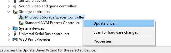 Update Windows 10 SATA drivers
