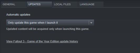 Configure automatic updates in Steam