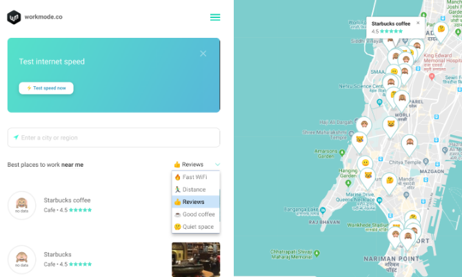 Find a wi-fi cafe anywhere in the world with WorkMode
