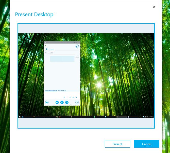 Présentez votre bureau dans Skype for Business