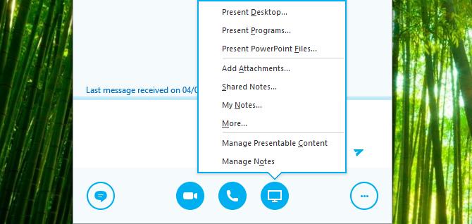 Partage de votre écran dans Skype for Business