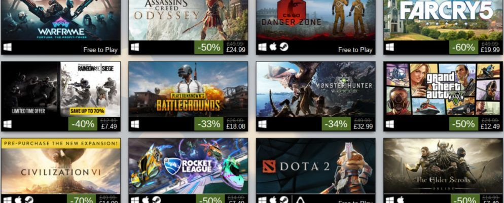 steam lists the top selling games of 2018. Black Bedroom Furniture Sets. Home Design Ideas
