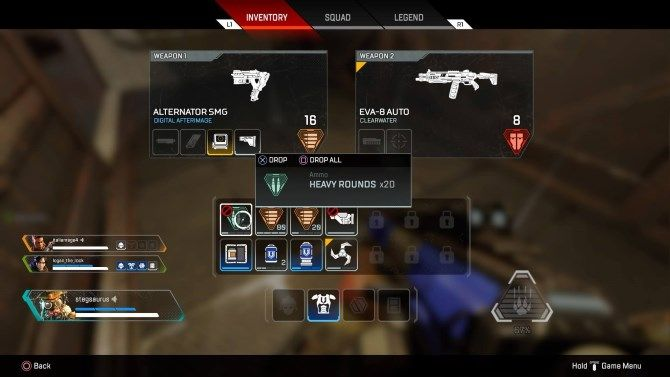 Apex Weapons Inventory