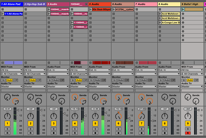 The Ableton Live Session View