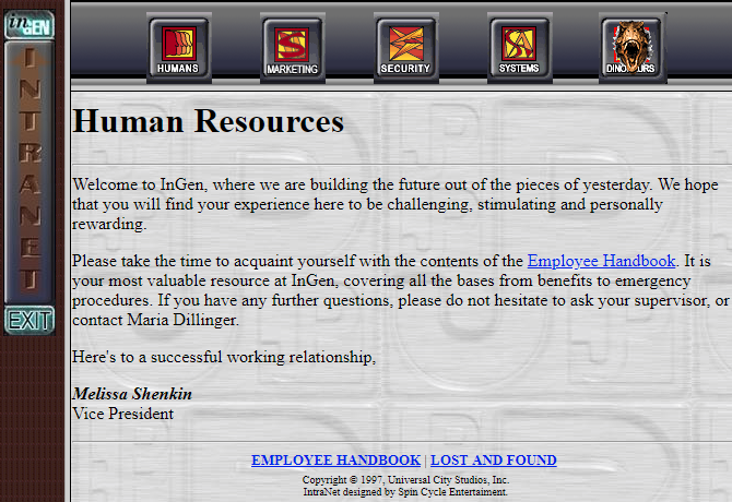Ancient Website HTML