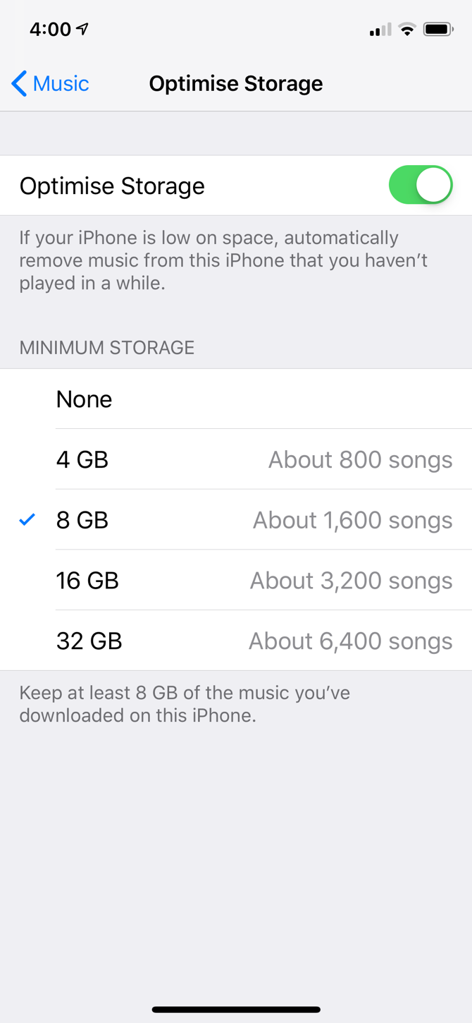 f2ab447c1d090 Turning on Automatic Downloads means you'll end up filling up your iPhone  fairly quickly. This is where Apple's Optimize Storage feature comes in.