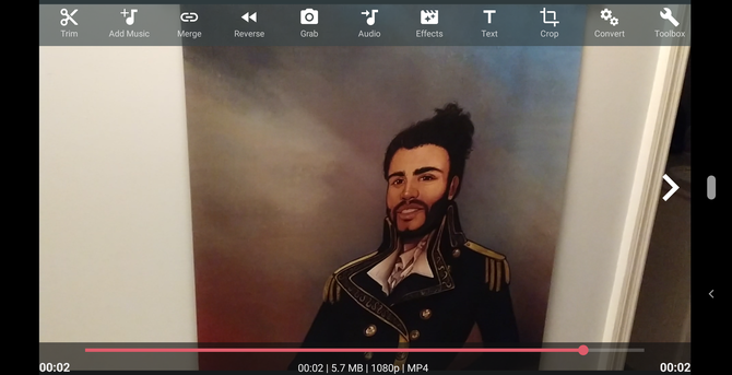 AndroVid video editor for Android