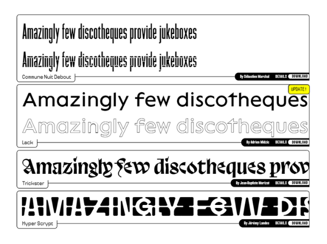 Alternative Display Unique Fonts