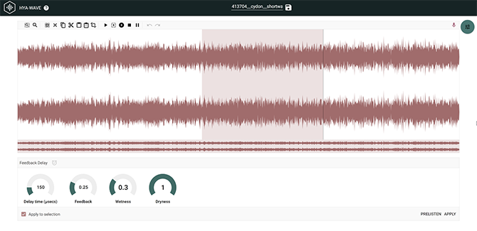 HYA WAVE Browser Audio Editor
