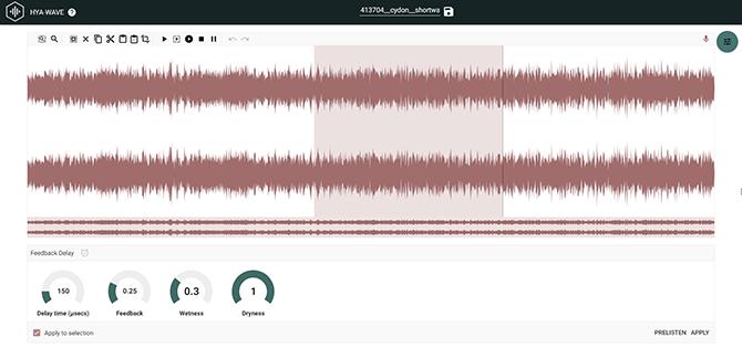 HYA WAVE Browser Audio Editor