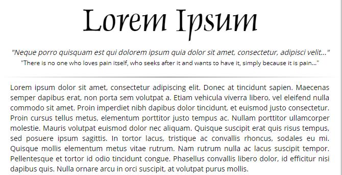 Loremipsum.com Text