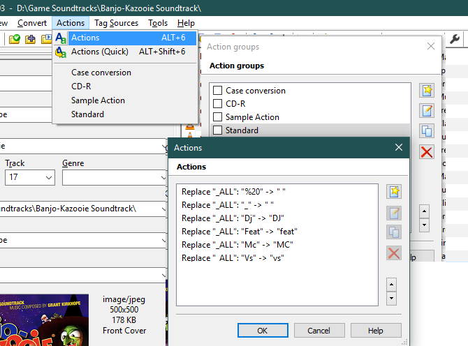 MP3Tag Actions Editor