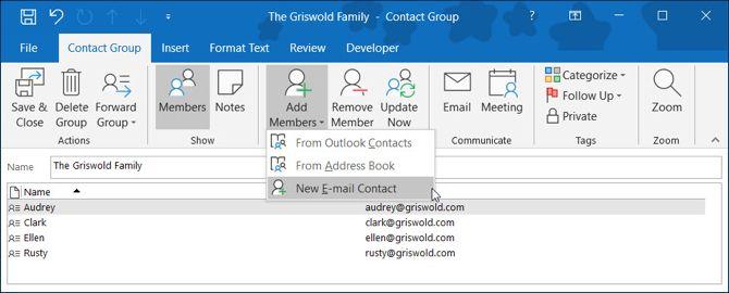 Come creare un gruppo di posta elettronica e una lista di distribuzione in outlook - Creare finestra popup ...