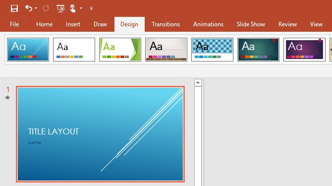 Change PowerPoint Presentation design