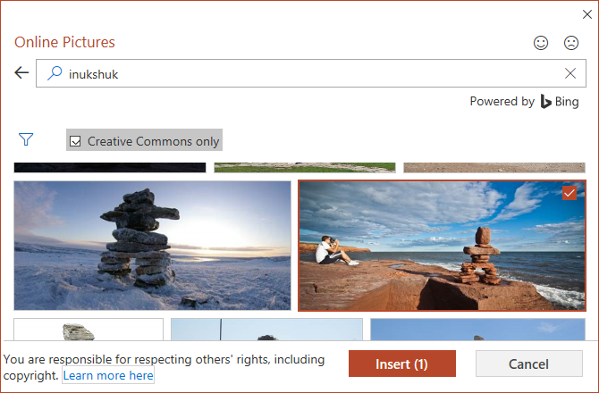 Insert online pictures into PowerPoint